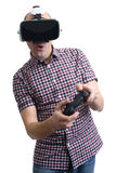 Man Wearing Virtual Reality Headset Stock Images