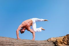 Man Wearing White Pants Under Blue Sky Stock Photography