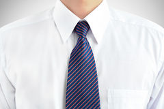 Man wearing white shirt and tie Stock Photos