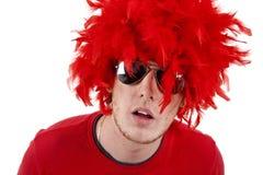Man wearing wig Stock Image