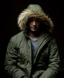 Man wearing winter coat Royalty Free Stock Photography