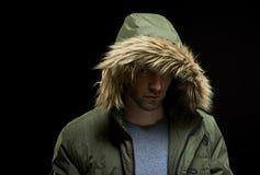 Man wearing winter coat Royalty Free Stock Image