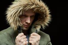 Man wearing winter coat Royalty Free Stock Photos