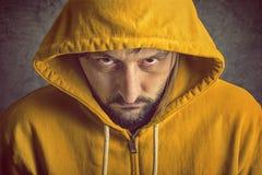 Man Wearing Yellow Hooded Jacket Royalty Free Stock Image