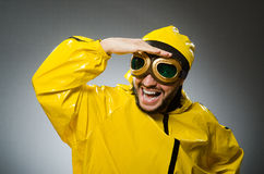 Man wearing yellow suit Stock Photos