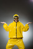 Man wearing yellow suit Royalty Free Stock Image