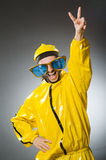 Man wearing yellow suit Royalty Free Stock Photo