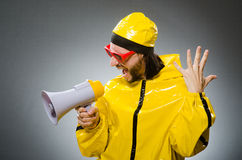 Man wearing yellow suit Royalty Free Stock Photography