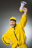 Man wearing yellow suit Royalty Free Stock Photos
