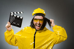Man wearing yellow suit Royalty Free Stock Images