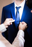The man wears a suit Stock Photography