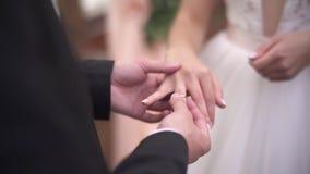 Wedding ring dress up stock video