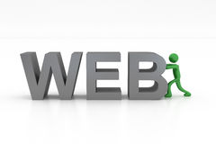 Man of the Web Stock Photography