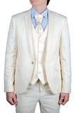 For man wedding dress cream Royalty Free Stock Photo
