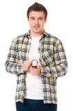 Man with wedding ring Stock Photos