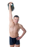 Man with weight Royalty Free Stock Photos