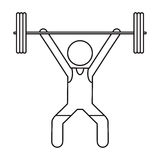 Man weight lifter sport athlete outline Stock Images