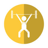 Man weight lifter sport athlete shadow Royalty Free Stock Photography