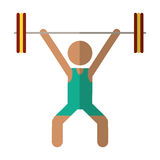 Man weight lifter sport athlete Stock Photo