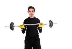 Man weight lifting. Stock Photography