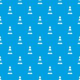Man with the weight over head pattern seamless blue Royalty Free Stock Image