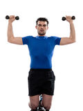 Man weight training Worrkout Posture Stock Photos