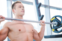 Man weightlifting. Royalty Free Stock Photos
