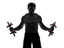 Man weights body builders training  exercises Stock Photo