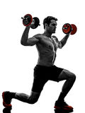 Man weights body builders training  exercises Royalty Free Stock Photography