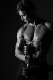 Man With The Weights Royalty Free Stock Image