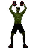 Man weights training  exercises strong like Hulk Royalty Free Stock Images