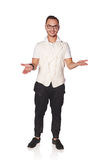 Man welcoming with opened arms Royalty Free Stock Photo