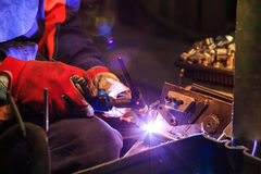 Man welding Stock Photography