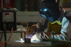 Man welding steel . Stock Photography