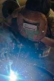 Man on welding work Royalty Free Stock Image