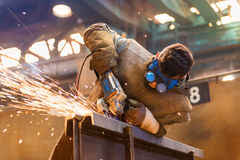 Man welding Royalty Free Stock Photos