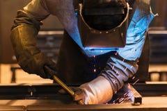Man welding Stock Photo
