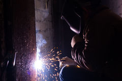 Man welds Stock Photography