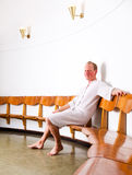 Man in Wellness Spa Stock Photography