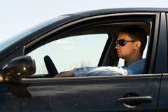 Man at the wheel Royalty Free Stock Image