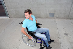 Man in wheelchair Royalty Free Stock Photos