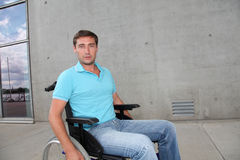 Man in wheelchair Royalty Free Stock Image