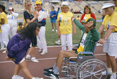 A man in a wheelchair competes Stock Images