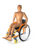 Man in wheelchair Stock Photo