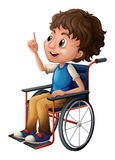 A man in a wheelchair stock illustration