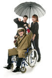 Man on wheelchair Stock Image