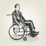 Man On Wheelchair Stock Photography