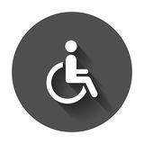 Man in wheelchair vector icon. Handicapped invalid people sign i Royalty Free Stock Images