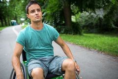 Man in a wheelchair Royalty Free Stock Photo