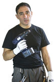 Man whit drill Royalty Free Stock Image